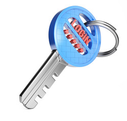 Key with login and password
