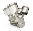 V6 engine pistons