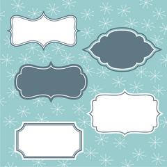 Set of frames on winter background