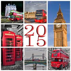 2015, London travel photos collage