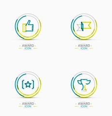 Award icon set, Logo collection