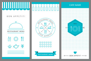 Restaurant menu design template.