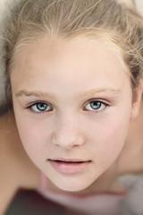 Close up portrait of beautiful little girl