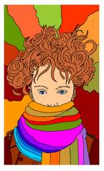 donna con la sciarpa