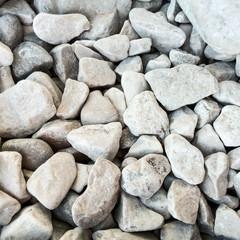 Beach white stones
