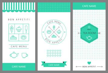 Tea room business card template.