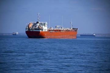 big tanker on the high seas