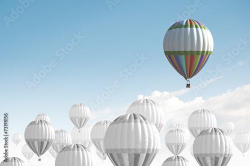 Deurstickers Ballon Aerostats in sky