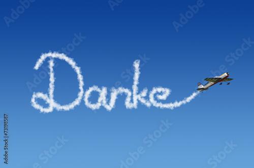 Leinwanddruck Bild Danke Wolkenschreiber