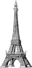 Vintage image Eiffel tower