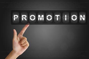hand pushing promotion on Flip Board