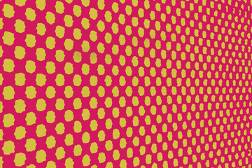 Magenta background with irregular yellow dots