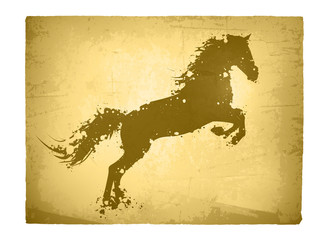 Abstract Vintage Horse