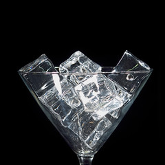 Close-up Ice in Glass