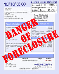 Mortgage Invoice - Foreclosure Warning
