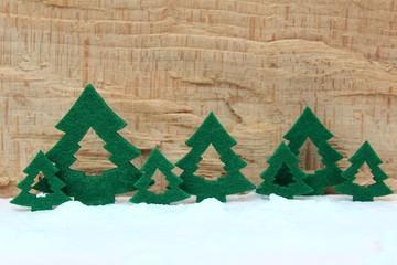 tannenbäume aus filz