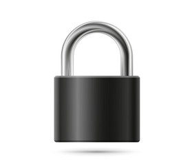 Realistic padlock illustration