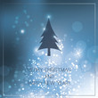 Christmas Card with Blue Bright Background