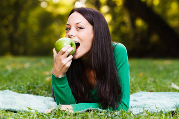 Healthy snack in nature