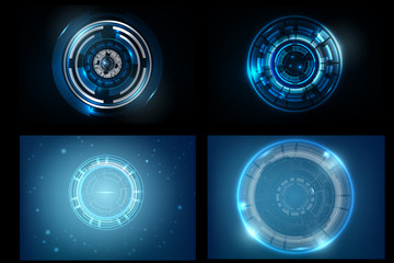 Set of Abstract Background technology design vector Illustration