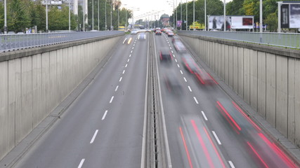 View of highway with overpass