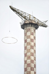 Abandoned parachute jump tower
