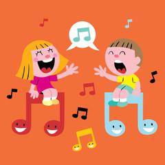 music kids singing