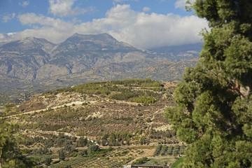 Kreta, Gebirgslandschaft bei Festos.