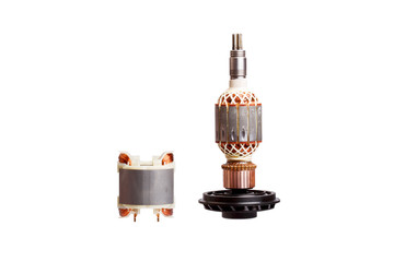 Rotor and stator - two parts of electric motor