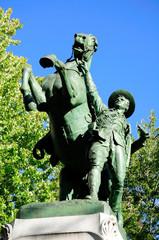 Boer war memorial and . Montreal. Canada.