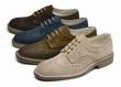 canvas print picture - suede men's shoes of different colors