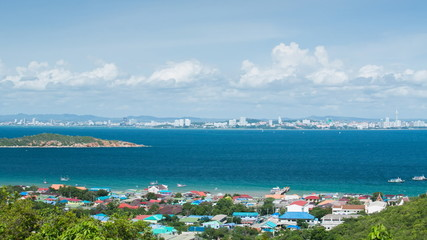 Time lapse of sea scape and Pattaya city, Thailand
