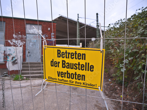 "canvas print picture Hinweisschild "" Betreten verboten"""