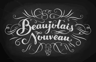 Beaujolais nouveau hand lettering