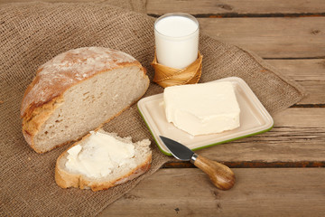Fresh bread and butter