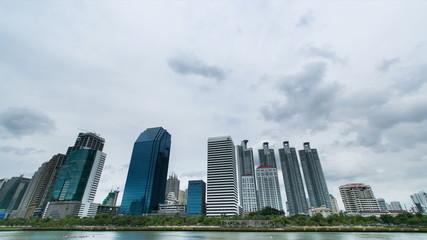 Time lapse of Bangkok cityscape