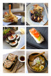 Collage of Japanese dishes