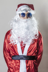 Santa Claus wearing sunglasses