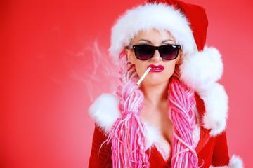 smoking snow girl
