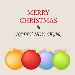 vector christmas balls retro decorative card