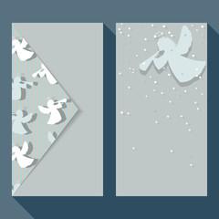 Christmas angels business card set