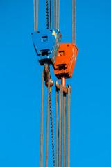 Two Crane Lifting Hooks