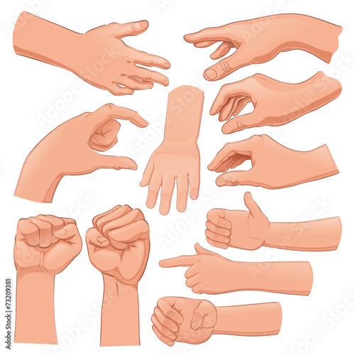 Set of several hands - 73209381