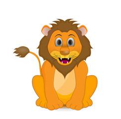 lion illustration isolated