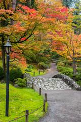 Fall Foliage Stone Bridge