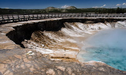 Excelsior geyser crater in Yellowstone national park