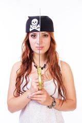 Dangerous pirate woman