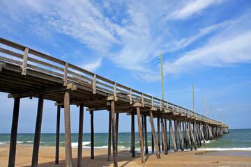 pier on Rodanthe beach