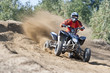 Rider driving in the quadbike race