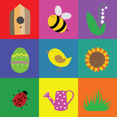 Vector symbols of spring